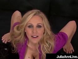 Smoking Hot Mommy Julia Ann Gives A POV BlowJob &amp_ FootJob!
