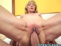 Blonde grandma creamed