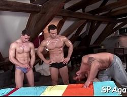 Provocative homosexual oral pleasure