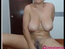 Nasty Latina Milf Busty Tits Masturbates on Cam part 1 - more at JuicyCam.net