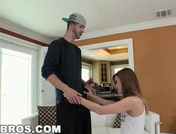 BANGBROS - Young teen Alaina Dawson gets twisted up with a big cock
