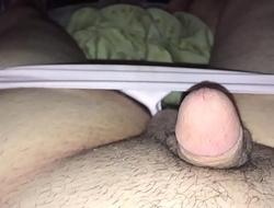 Crossdresser showing off tiny pathetic white micropenis/clitoris