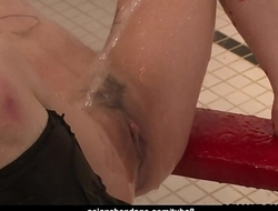 Piss drinking Asian is bound and fiercely fucked and toyed