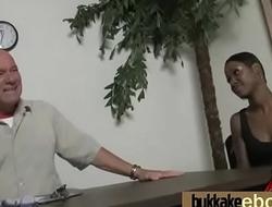 Ebony Babe Sucks Group Of White Guys 6